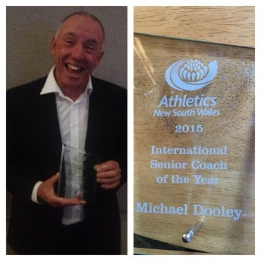 PB Head Coach Michael Dooley is just a little bit excited to receive this prestigious award!